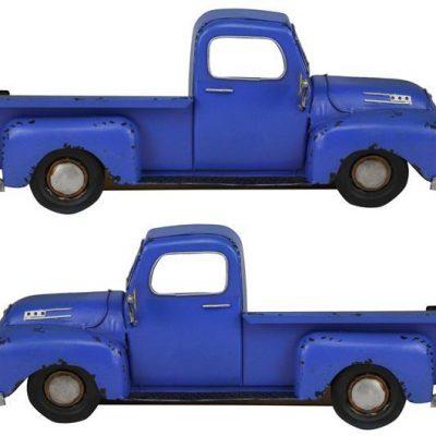 Blue Metal Half Truck